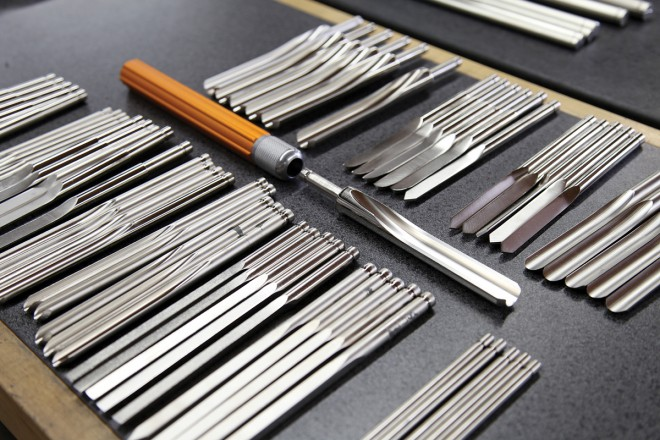 complete set of woodturning tools