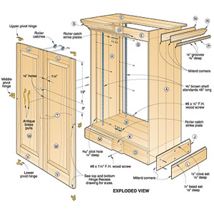 woodworking cabinet plan