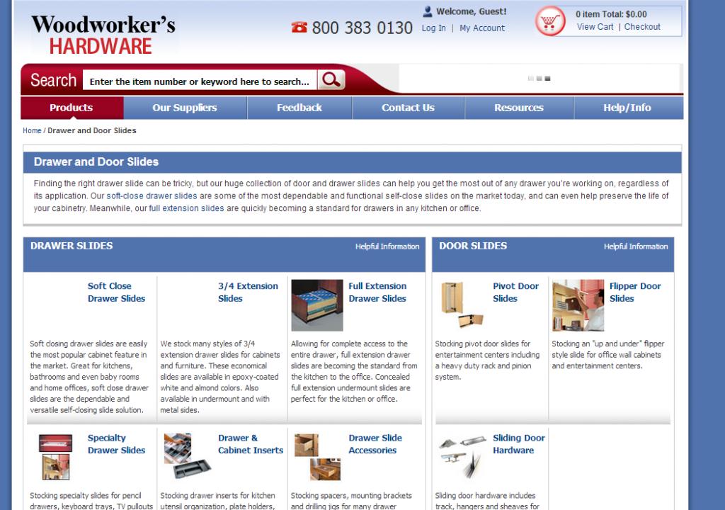 Woodworkers Hardware Website