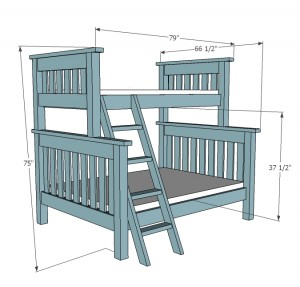 bunk bed plans ana white